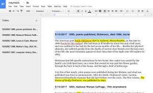 example Google Docs
